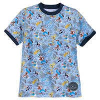 Image of Mickey Mouse and Friends Ringer T-Shirt for Kids - Disneyland 2019 # 1