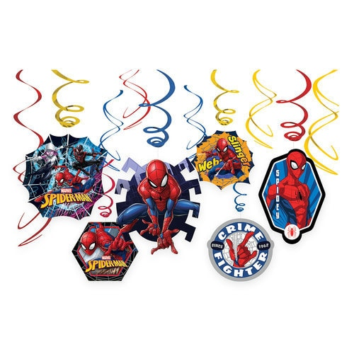Spider-Man Webbed Wonder Swirl Decoration Set