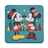 Image of Mickey and Minnie Mouse Holiday Trivet # 1