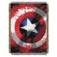 Image of Captain American Woven Tapestry Throw # 1