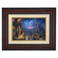 Image of ''Beauty and the Beast Dancing in the Moonlight'' Framed Limited Edition Canvas by Thomas Kinkade Studios # 1