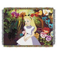 Image of Alice in Wonderland Woven Tapestry Throw # 1