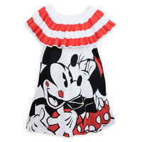 Image of Mickey Mouse and Minnie Mouse Off-the-Shoulder Dress for Women by Sugarbird # 1