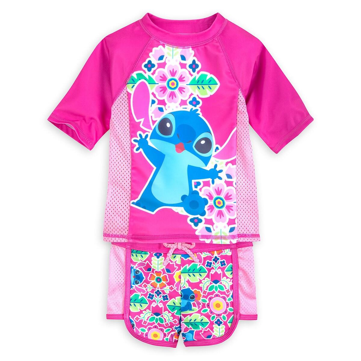 7b42435c1316a Product Image of Stitch Rash Guard Swim Set for Girls # 1
