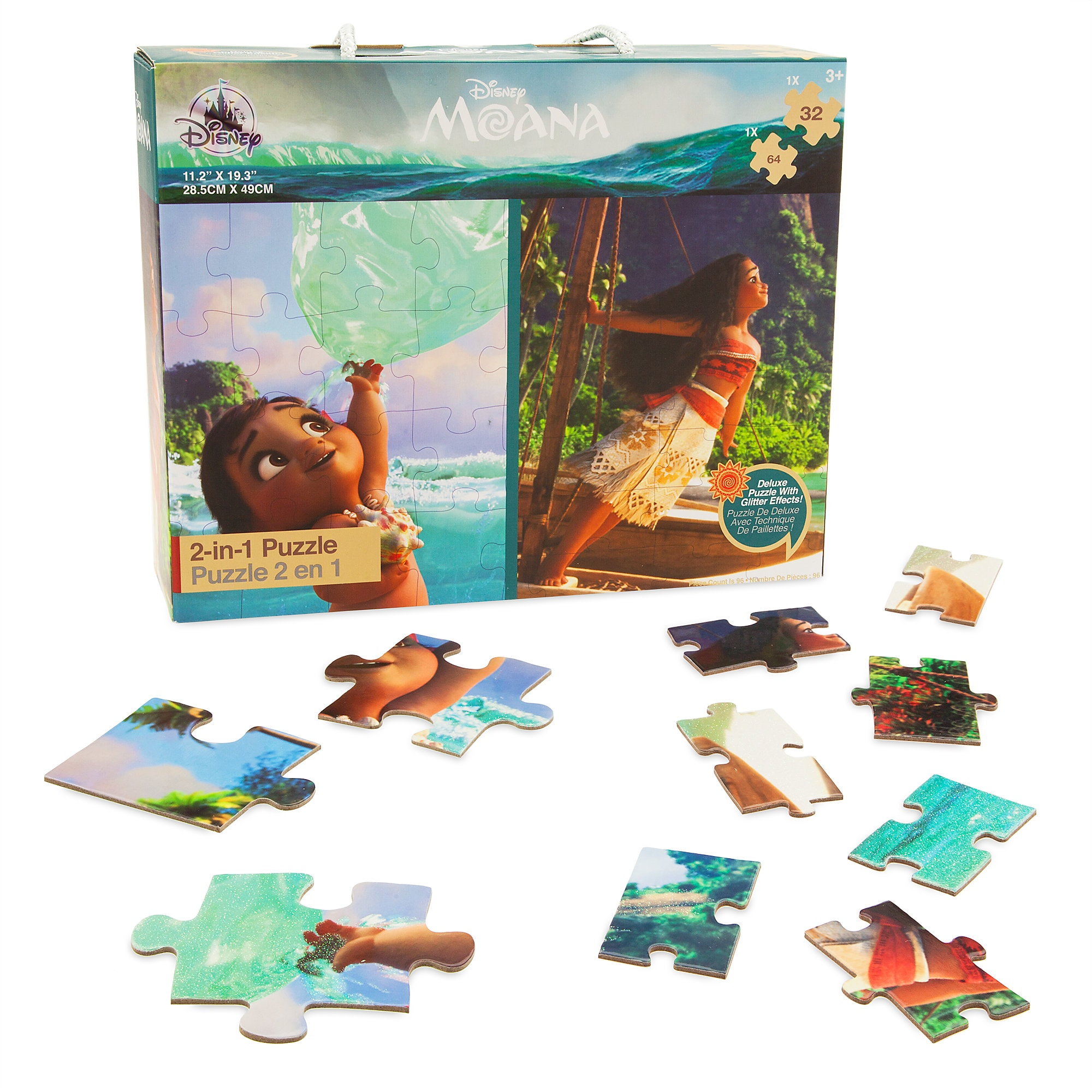 Moana Two-in-One Deluxe Puzzle Set
