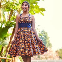 Image of Orange Bird Dress for Women # 2