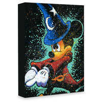 Image of Sorcerer Mickey Mouse ''Mickey Casts a Spell'' Giclée on Canvas by Stephen Fishwick # 1