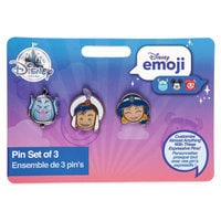 Image of Aladdin Disney Emoji Mini Pin Set # 3