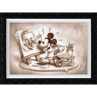 Image of Mickey Mouse ''A Stroke of Genius'' Giclée by Noah # 2