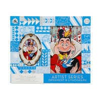 Image of Alice in Wonderland Artist Series Sketchbook Ornament and Lithograph Set - Limited Edition # 2