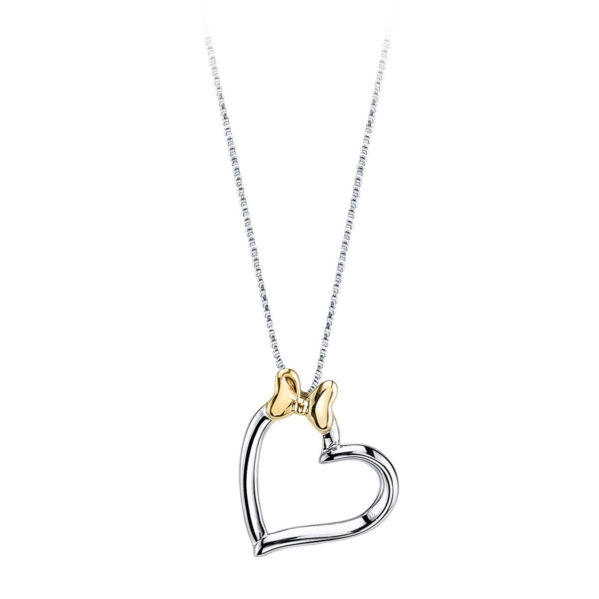 3ebeead894a6 Product Image of Minnie Mouse Bow Heart Necklace for Women   1