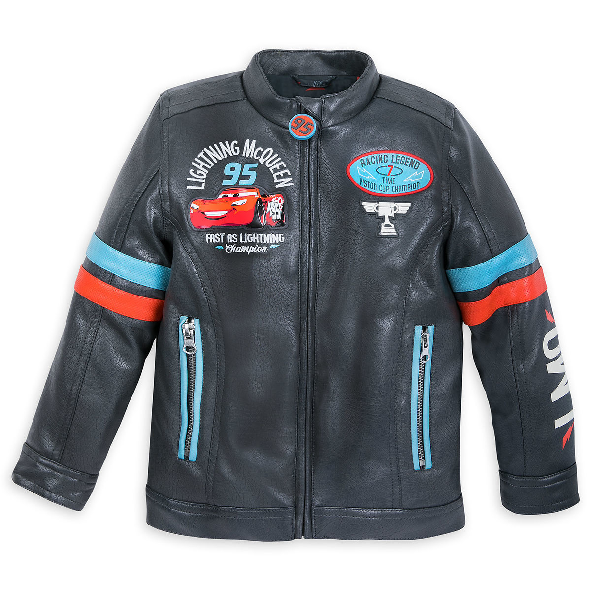 9c5afd866bf3 Lightning McQueen Faux Leather Jacket for Boys