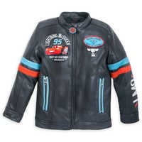 Image of Lightning McQueen Faux Leather Jacket for Boys # 1