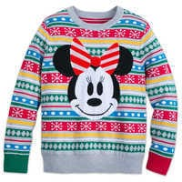 Image of Minnie Mouse Family Holiday Sweater for Women # 1