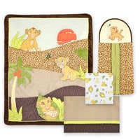 Image of Simba and Nala 4-Piece Crib Bedding Set - The Lion King # 1
