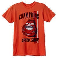 Image of Lightning McQueen T-Shirt for Adults - Cars # 1