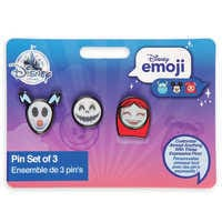 Image of Tim Burton's The Nightmare Before Christmas Disney Emoji Mini Pin Set # 3
