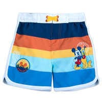 Image of Mickey Mouse and Pluto Swim Trunks for Baby # 1