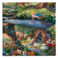 Image of ''Alice in Wonderland'' Gallery Wrapped Canvas by Thomas Kinkade Studios # 2