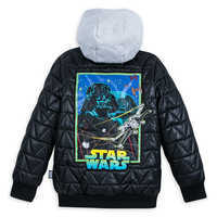 Image of Darth Vader Hooded Jacket for Kids - Personalizable # 2