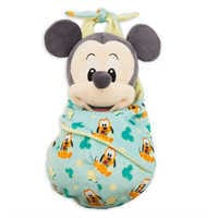 Image of Mickey Mouse Plush in Pouch - Disney Babies - Small # 1