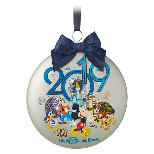 Mickey Mouse and Friends Glass Disk Ornament - Walt Disney World 2019