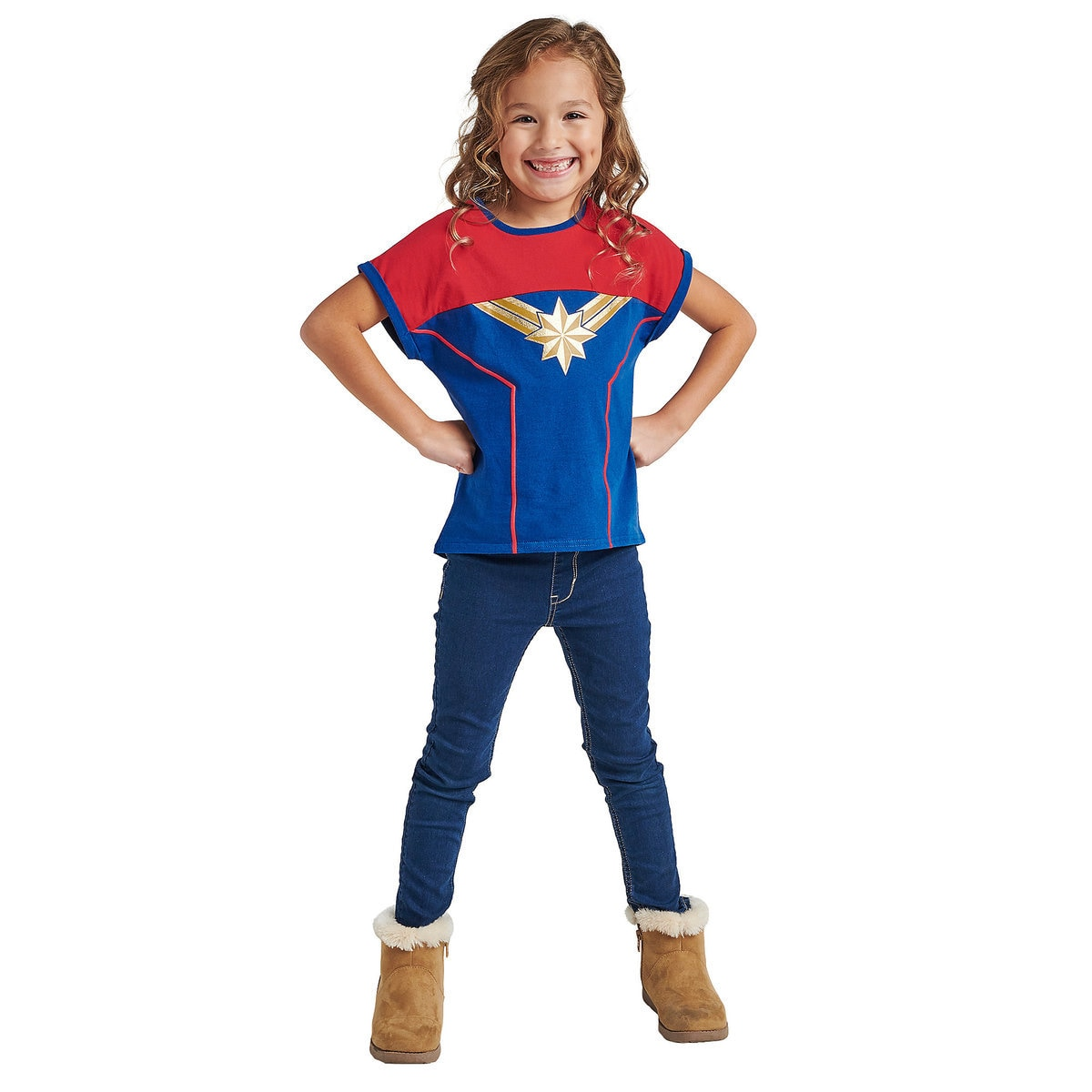 be9406b8 Product Image of Marvel's Captain Marvel Shirt for Girls # 2