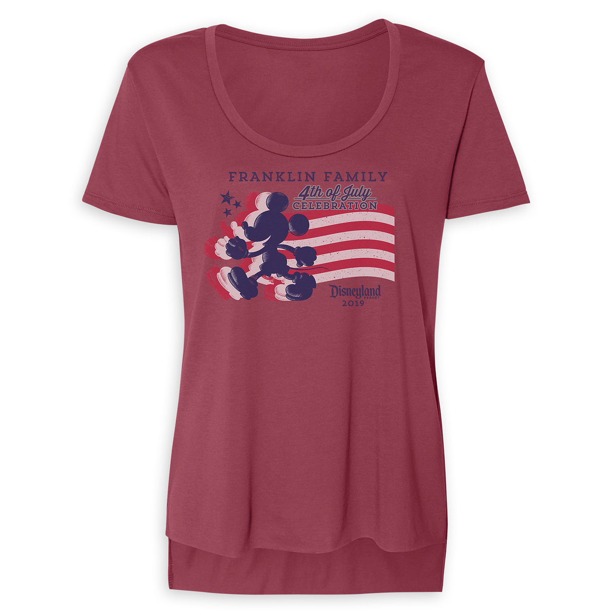 a5491e2c09b441 Product Image of Women's Mickey Mouse Silhouette 4th of July Scoop Neck T- Shirt -