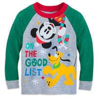 Image of Mickey Mouse and Pluto Holiday PJ Set for Boys # 2