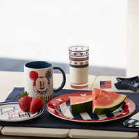 Image of Mickey Mouse Americana Dessert Plate # 3