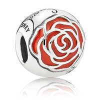 Image of Belle Enchanted Rose Charm by PANDORA # 1