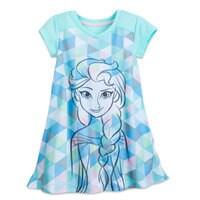 Image of Elsa Nightshirt for Girls # 1