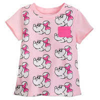 Image of Minnie Mouse Allover T-Shirt for Girls - Pink # 1