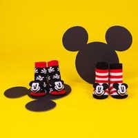 Image of Mickey Mouse Rattle Socks Set for Baby by Waddle # 3