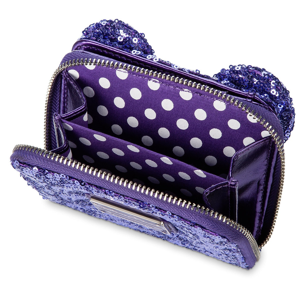 d218ec2421f Product Image of Minnie Mouse Potion Purple Sequined Wallet by Loungefly   4