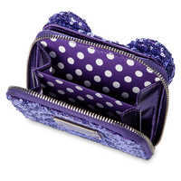 Image of Minnie Mouse Potion Purple Sequined Wallet by Loungefly # 4