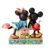 Image of Mickey and Minnie Mouse ''Kissing Booth'' Figure by Jim Shore # 2