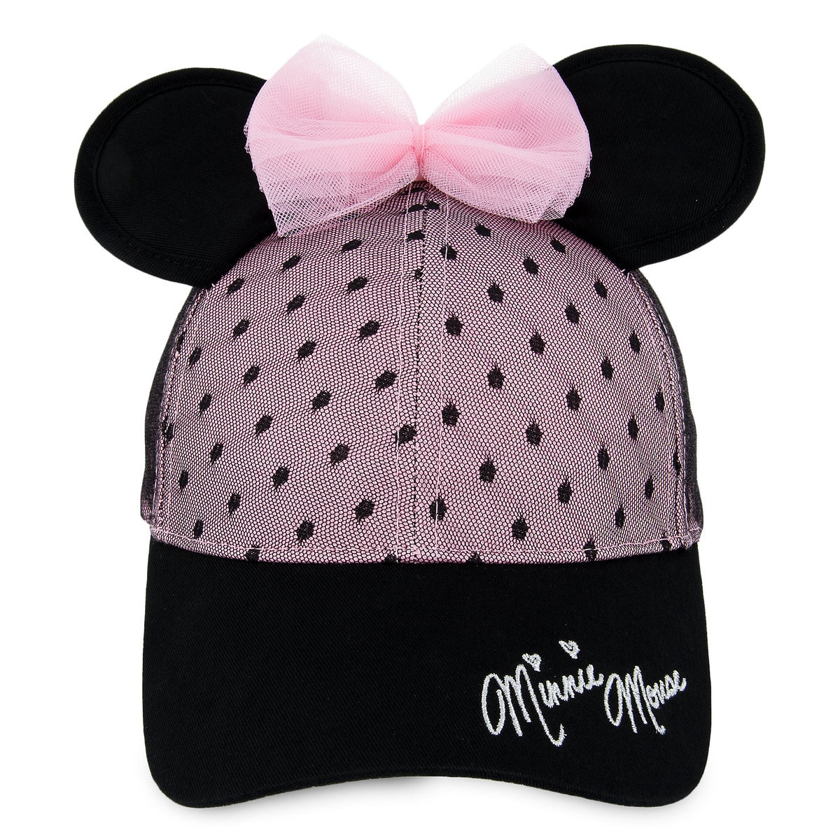 62b15b9b Product Image of Sweet Minnie Mouse Ears Baseball Cap for Women # 1