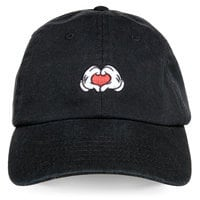 Mickey Mouse Heart Hands Baseball Cap for Adults