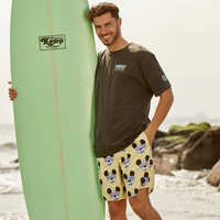 Image of Mickey Mouse Swim Trunks for Men by Neff # 2