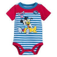 Image of Mickey Mouse and Pluto Bodysuit for Baby # 1