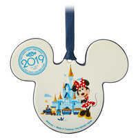 Image of Mickey and Minnie Mouse Icon Ceramic Ornament - Walt Disney World 2019 # 2