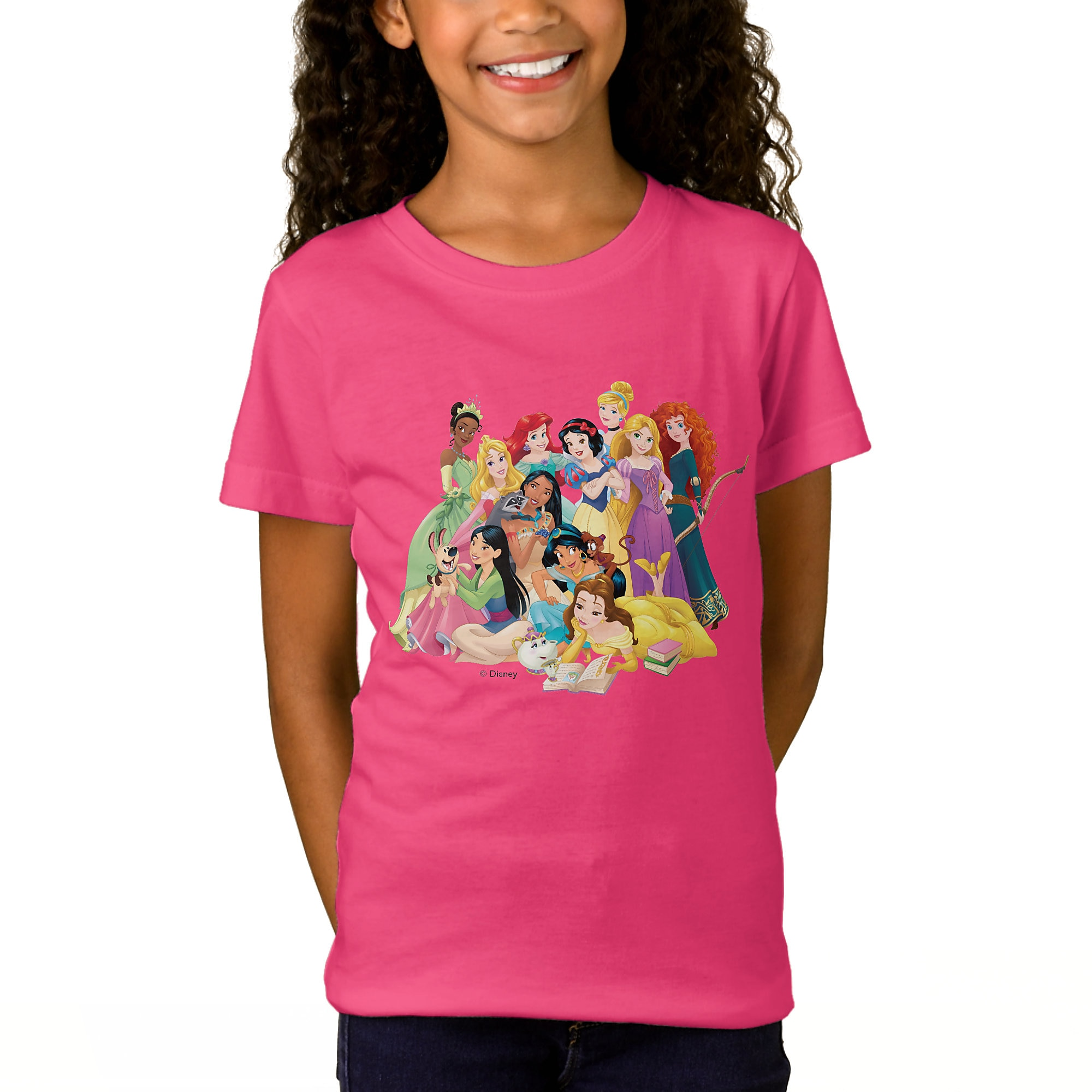 Disney Princess ''Adventure Begins Here'' T-Shirt for Girls - Customizable