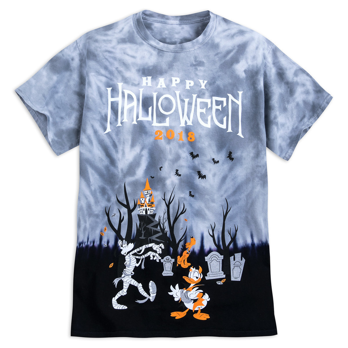 d3d13ddcd68f Product Image of Mickey Mouse and Friends Halloween Tie-Dye T-Shirt for  Adults