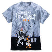 Mickey Mouse And Friends Halloween Tie Dye T Shirt For Adults by Disney