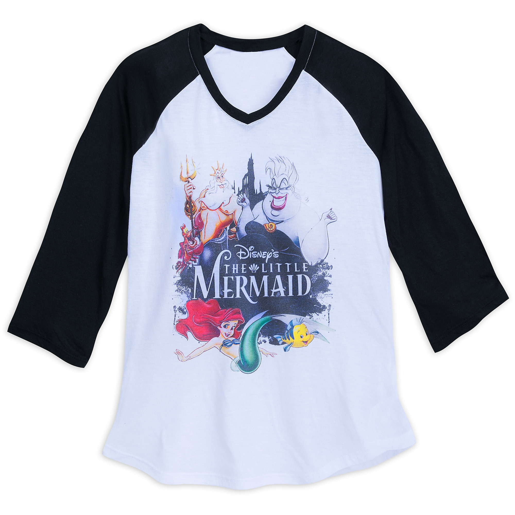 The Little Mermaid Raglan T-Shirt for Women