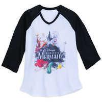 Image of The Little Mermaid Raglan T-Shirt for Women # 1
