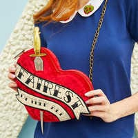 Image of Snow White Velvet Crossbody Bag for Women - Oh My Disney # 4