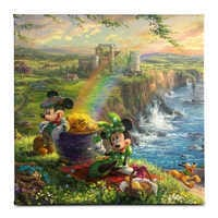 Image of ''Mickey and Minnie in Ireland'' Gallery Wrapped Canvas by Thomas Kinkade Studios # 1