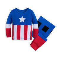 Image of Captain America Costume PJ PALS for Baby # 1